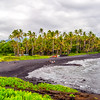 Black Sand Beach on the Big Island of Hawaii
