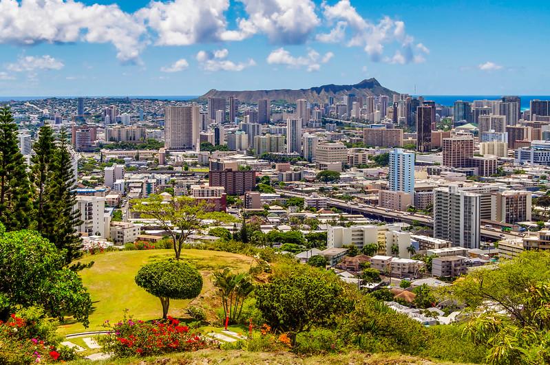 Honolulu and Diamond Head Crater