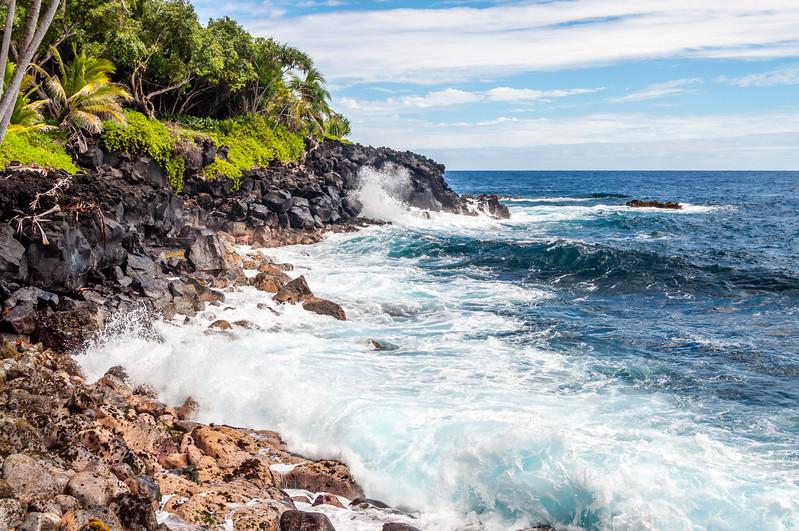 Waves Crashing on the Big Island of Hawaii