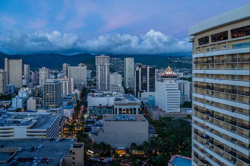 Dusk Over Honolulu