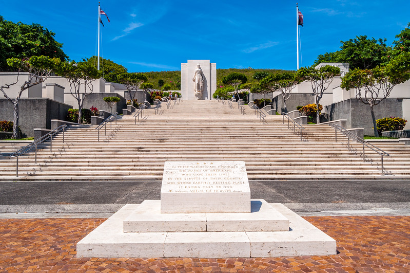 Monunment at the National Memorial Cemetery of the Pacific