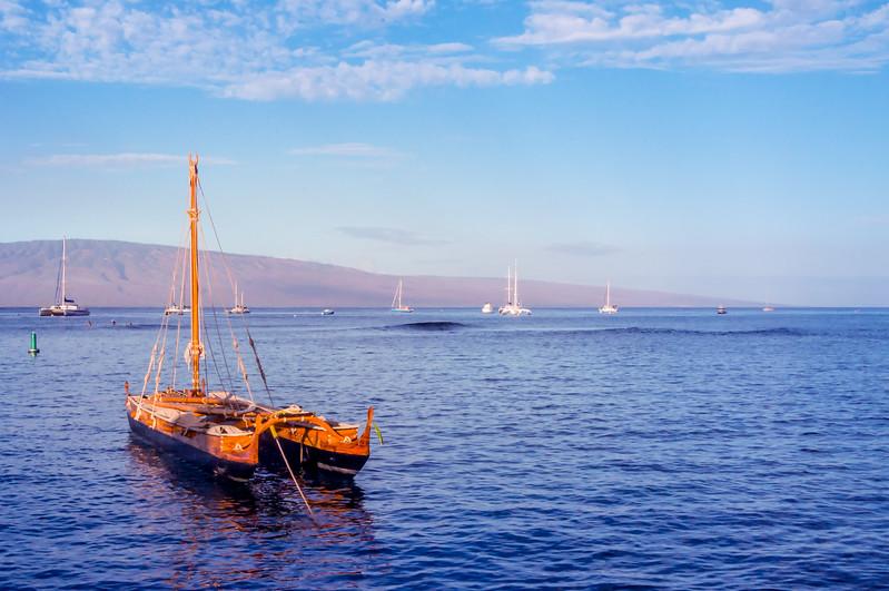 Sailboat off of Lahaina