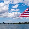 United States Flag Flying at Pearl Harbor