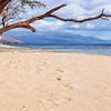 Footprints on a West Maui Beach