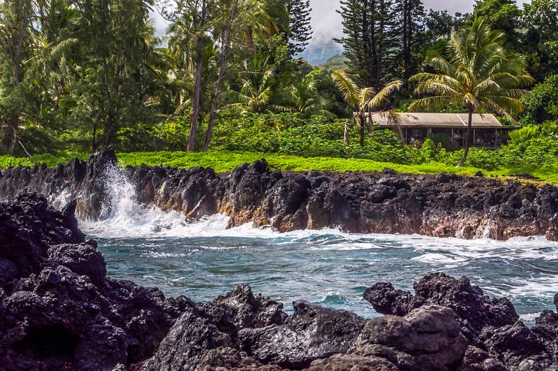 Waves Crash at Wai'anapanapa Beach