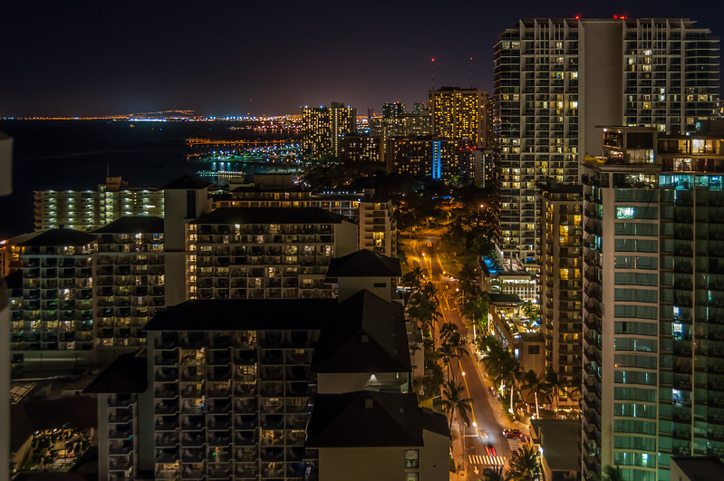 Darkness Settles on Honolulu