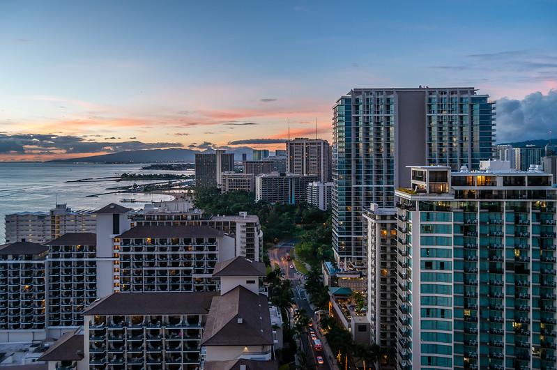 Looking North at the Sheraton Waikiki