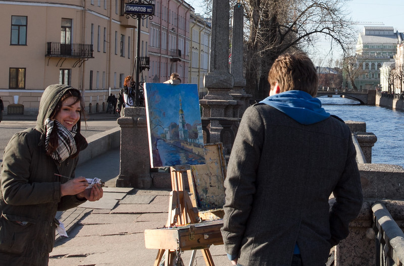 young artists in the open air