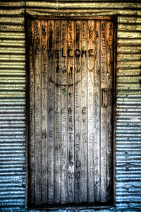 The Front Door of Bradleys Hut ~ Snowy Mountains Australia.The hut was built by stockman for shelter in the days when cattle could graze on the higher peaks in the summer months. When the Kosciuszko National Park was created cattle grazing was no longer allowed but this hut, and others through the Snowy mountains, still remain.