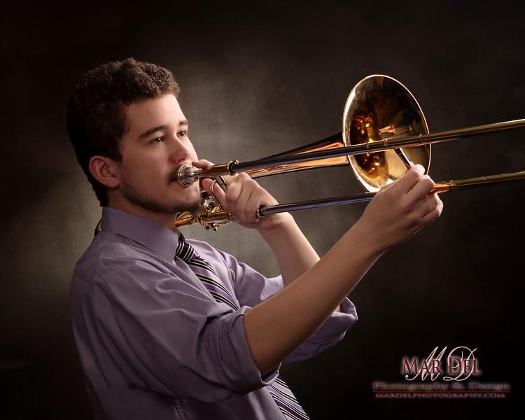 Senior Pictures with Trombone