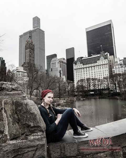 Senior portrait in Central Park