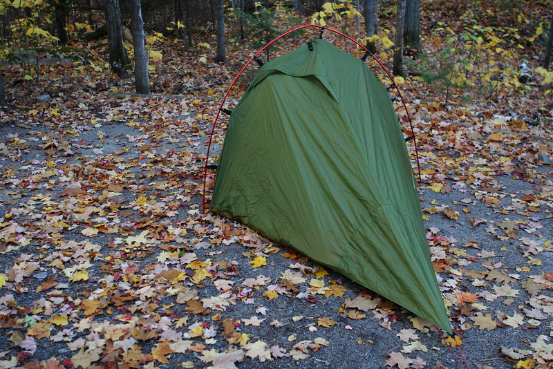 Camping with the new tent ... lost tent pegs in the dark