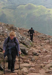 Janine Button completed the 3 Peaks in 2008, fuelled by vegan energy bars and, very wisely, truffles.