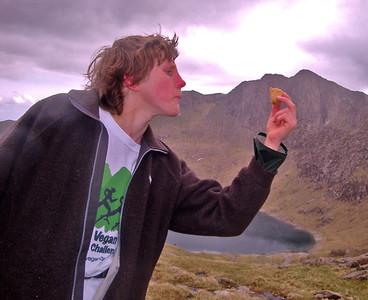 Andrew Taylor actually fell in love with the flapjacks supplied by Shambhu's Vegan Caterers on his way to the summit of Mt Snowdon.