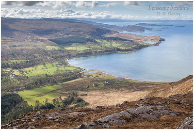 Applecross Bay from Beinn a'Chlachain