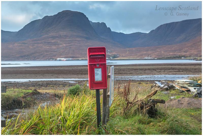 Red post box, Achintraid, Loch Kishorn