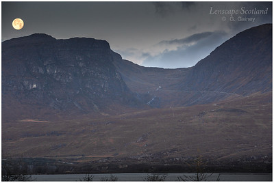 Full moon over the Bealach na Ba