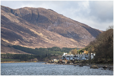 Applecross village and Beinn a'Chlachain