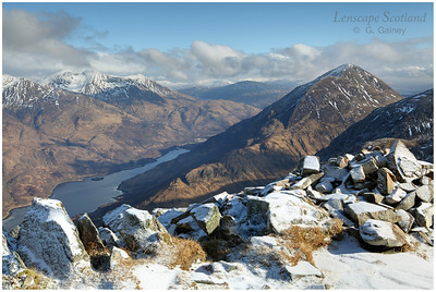 Loch Leven and Garbh Bheinn (Kinlochleven) from Pap of Glencoe