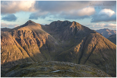 Bidean nam Bian in late evening sunshine