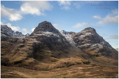 Bidean nam Bian from the Pass of Glencoe