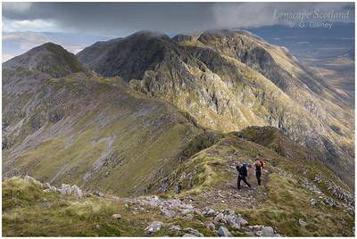 Aonach Eagach ridge from Sgorr nam Fiannaidh (2)