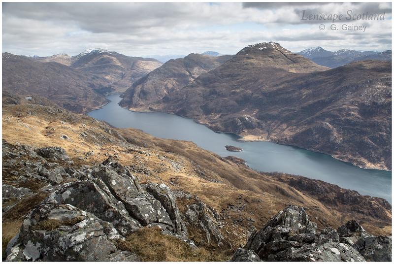 Loch Hourn, Sgurr a'Mhaoraich and Sgurr nan Eugallt from Druim Fada
