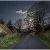 Road through Galltair to Kylerhea ferry, on a moonlit night