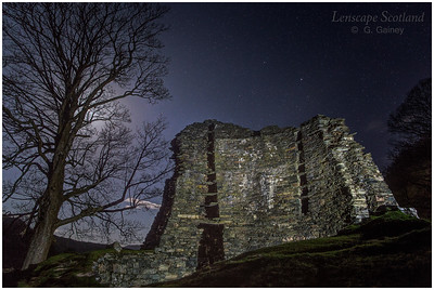 Dun Telve broch, Gleann Beag, at night