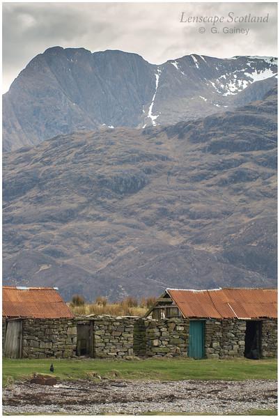 Stob a'Chearcaill (Knoydart) from Corran