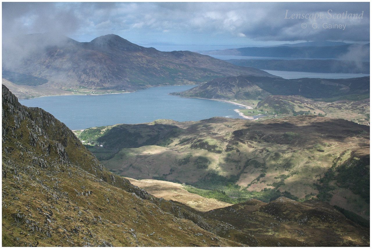 Glenelg Bay from Beinn a'Chapuill