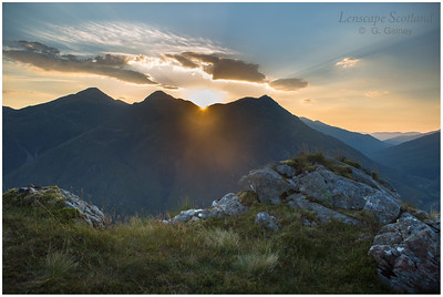 Sunrise over the Five Sisters of Kintail