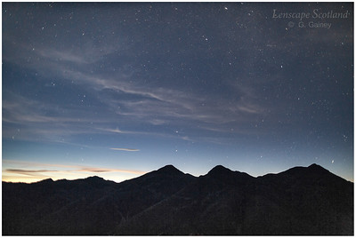 early dawn over the Five Sisters of Kintail