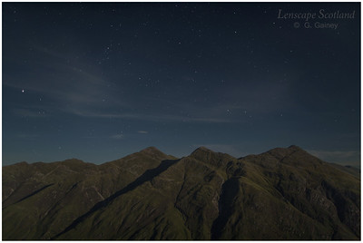 Five Sisters of Kintail by moonlight