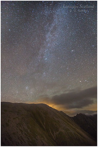 Milky Way over the Aonach Eagach ridge, Glen Coe