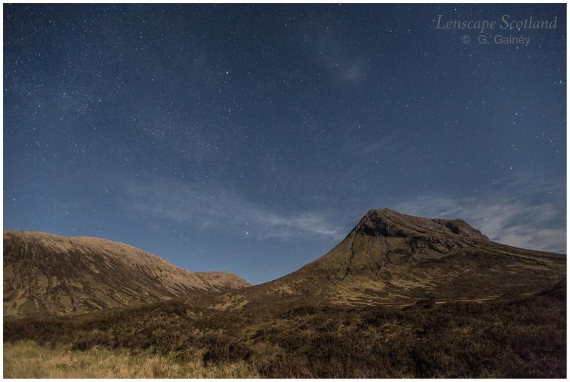 Marsco by moonlight, Glen Sligachan, Isle of Skye