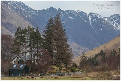 Aonach Eagach ridge, Glen Coe, from Gleann-leac-na-muidhe
