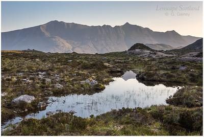 Liathach from Lochan Domhain, dawn