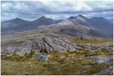 Sgorr nan Lochan Uaine, Beinn Liath Mhor & Sgorr Ruadh from Beinn na h-Eaglaise