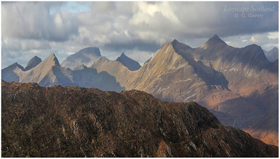 The Mamores and Ben Nevis from the Devil's Staircase