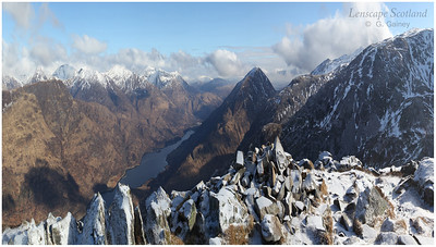 The Mamores and Loch Leven from the Pap of Glencoe