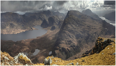 Fionn Loch and Letterewe Forest from Beinn Airigh Charr