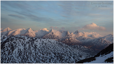 The Mamores and Ben Nevis from Stob Beinn a'Chrulaiste