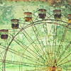 Vintage grunge effect ferris wheel