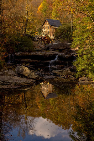 Reflection of Glade Creek Mill