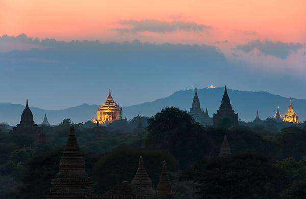 Temple Twilight    Bagan Myanmar