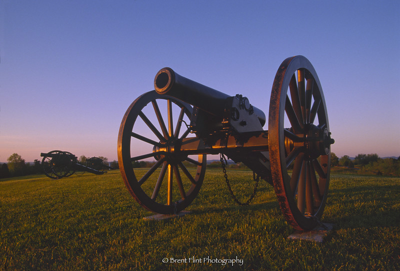 S.2954 - cannons at sunrise, Perryville Battlefield State Historic Site, Boyle County, KY.