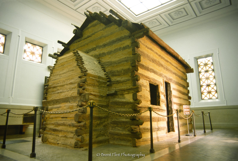 S.2977 - the cabin in the Memorial Building, Abraham Lincoln Birthplace National Historic Site, KY.