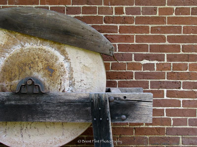 DF.851 - grinding wheel, slave quarters, Waveland State Historic Site, KY.