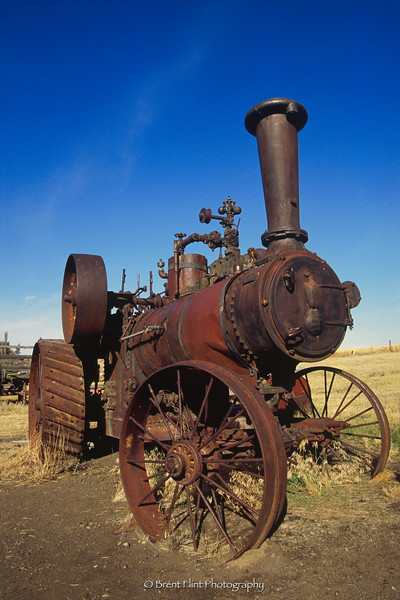 S.4958 - steam tractor, Old Molson Ghost Town Museum, WA.